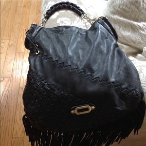 Jimmy Choo Lambskin Leather Fringe Tatum bag
